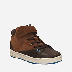 Topic Hi Toddler Brown Combi Leather boys-toddler