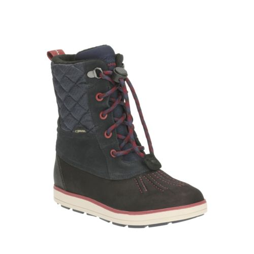 Syd Hi GTX Toddler  Navy Leather boys-boots
