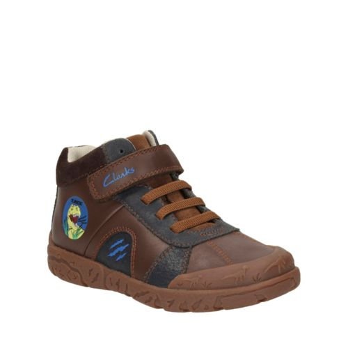 Bronto Roar Toddler Brown Leather boys-shoes