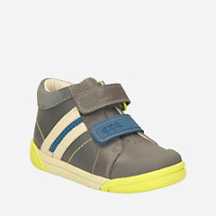 Lil Folk Mac Youth Grey Leather boys-shoes