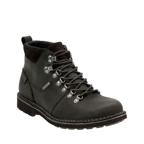 Lawes Hi GTX Black Leather mens-ortholite