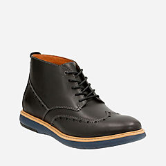 Flexton Mid Black Leather mens-dress-boots