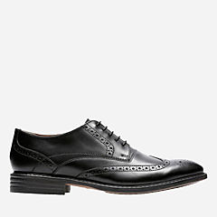 Garvan Edge Black Leather mens-dress-shoes