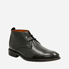 Garvan Mid Black Leather mens-ortholite