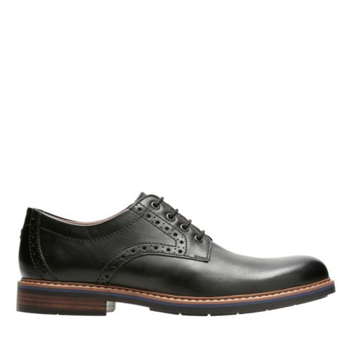 Melshire Plain Black Leather mens-ortholite