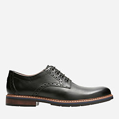 Melshire Plain Black Leather mens-oxfords-lace-ups