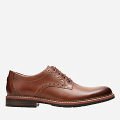 Melshire Plain Tan Leather mens-ortholite