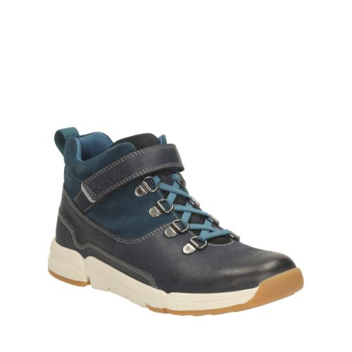 Tri Spike Toddler  Blue Combi Lea boys-boots