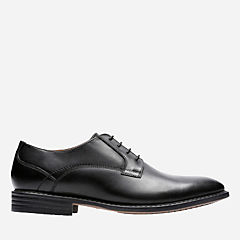 Garvan Plain Black Leather mens-dress-shoes