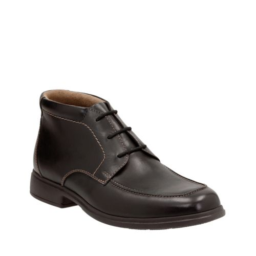 Tifton Top Black Leather mens-boots
