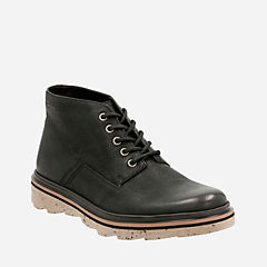 Frelan Hike Black Leather mens-ortholite