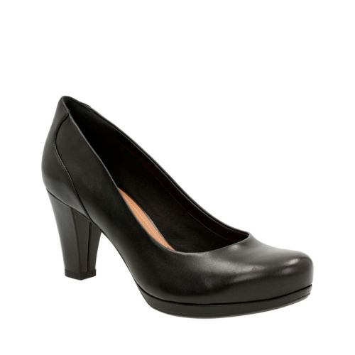 Chorus Chic Black Leather womens-heels