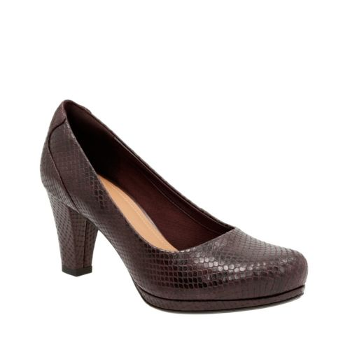 Chorus Chic Truffle Snake Leather womens-heels