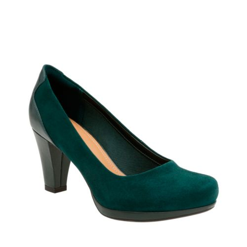 Chorus Chic Dark Green Suede womens-heels