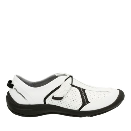 Asney Slipon White Leather womens-active