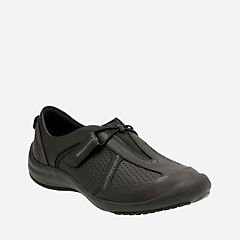 Asney Slipon Black Leather womens-active