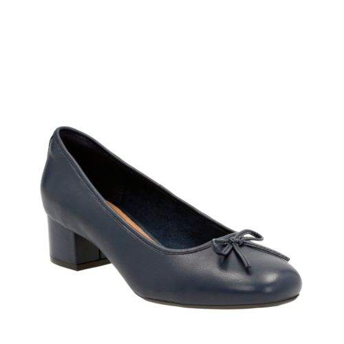Cala Lucky Navy Leather womens-wide-width