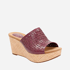 Caslynn Dylan Plum Leather sale-womens-wedges