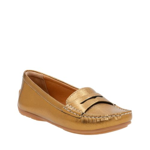 Doraville Nest Gold Metallic Leather womens-casual-shoes