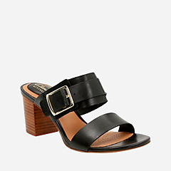 Ralene Rose Black Leather womens-ortholite