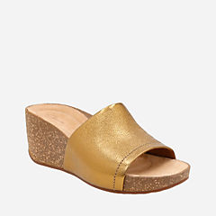 Temira North Gold Metallic Leather womens-sandals-wedge