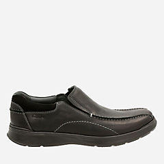 Cotrell Step Black Oily Lea mens-loafer-slip-on