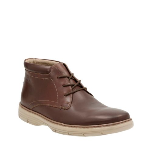 Watts Mid Brown Leather mens-ortholite