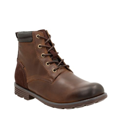 Guard Peak Tan Leather mens-casual-boots