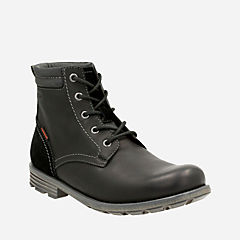 Guard Peak Black Leather mens-casual-boots