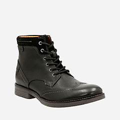Devington Hi Black Smooth Leather mens-casual-boots