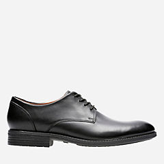Truxton Plain Black Waterproof Leather mens-dress-shoes