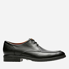 Truxton Pace Black Leather mens-ortholite