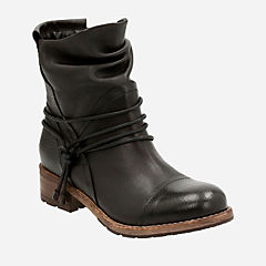 Volara Dina Black Leather womens-midcalf-boots