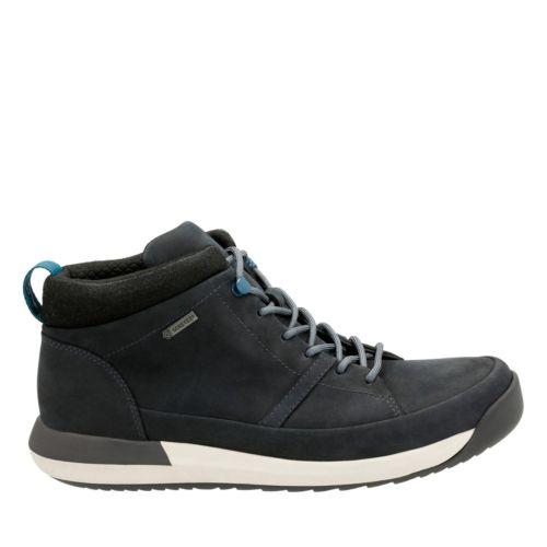 CLARKS Johto Hi GTX dark blue nubuck
