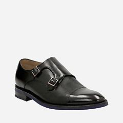 Swinley Monk Black Leather mens-dress-shoes
