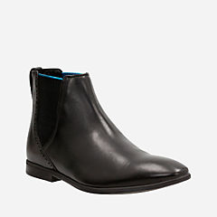 Bampton Top Black Leather mens-dress-boots