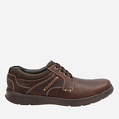 Cotrell Plain Brown Oily Leather mens-casual-shoes