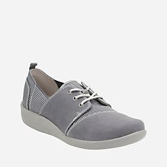 Sillian Joss Grey Canvas Synthetic womens-active