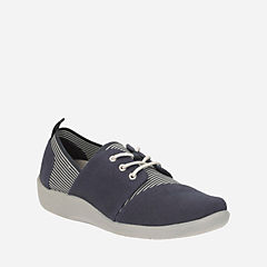 Sillian Joss Navy Canvas Synthetic womens-active