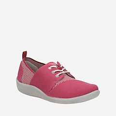 Sillian Joss Red Canvas Synthetic womens-active