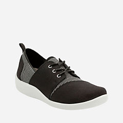 Sillian Joss Black Canvas Synthetic womens-active