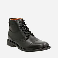 Edmen Cap Black Leather mens-dress-boots