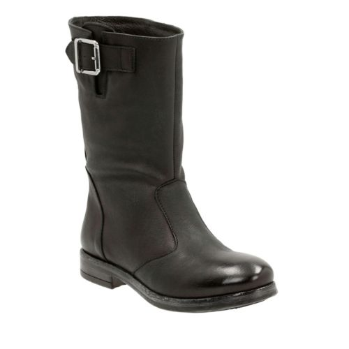 Sicilly Day Black Leather womens-midcalf-boots
