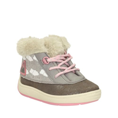 Maxi Fun First Grey Leather girls-shoes