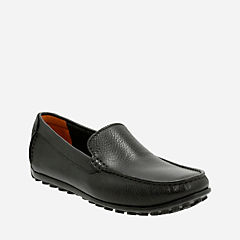 Hamilton Free Black Leather mens-loafer-slip-on