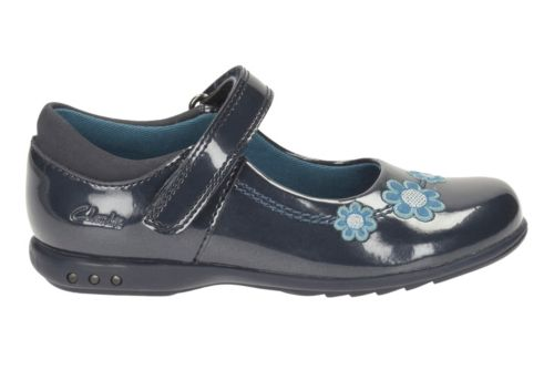 Trixi Whizz Toddler  Navy Patent girls