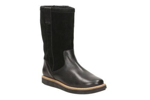 Glick Elmfield Blk Leather/Blk Suede Combi womens-midcalf-boots