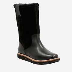 Glick Elmfield Black Combi womens-midcalf-boots