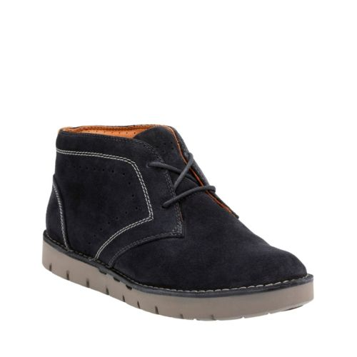 Un Astin Navy Suede womens-casual-shoes