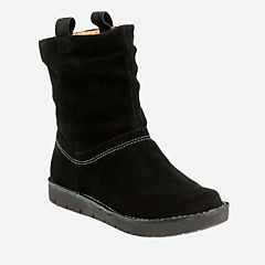 Un Ashburn Black Suede womens-midcalf-boots